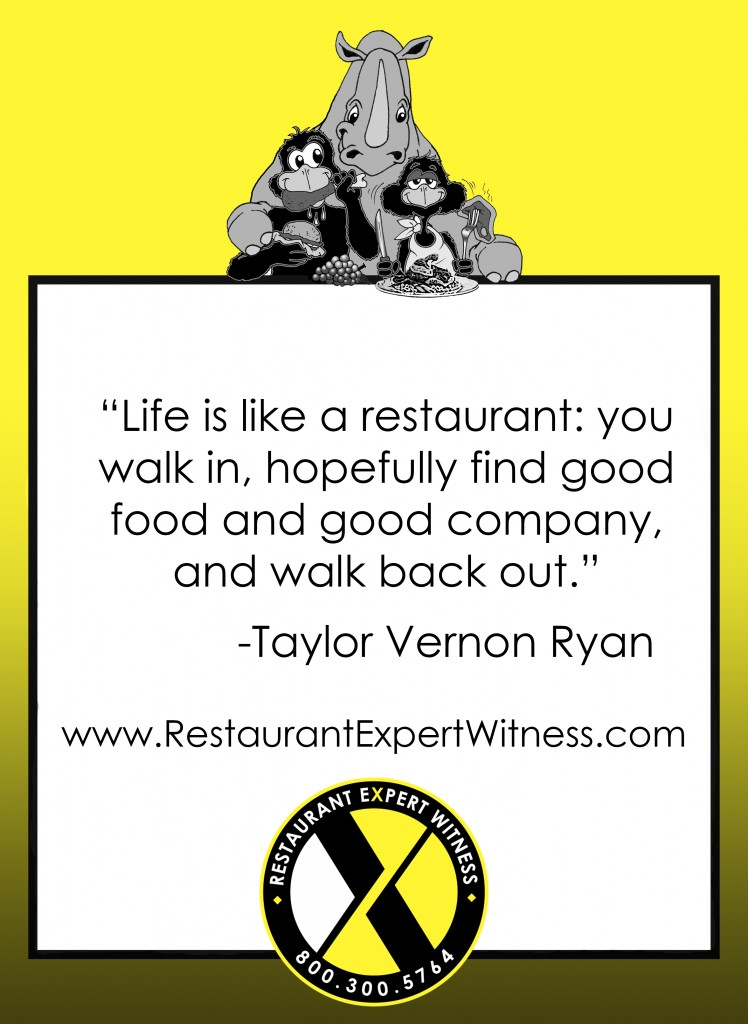Restaurant Expert Witness